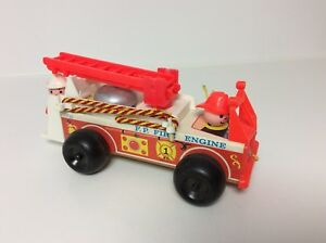 Fisher Price vintage Little People Firetruck with figure