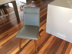 Genuine Leather Dining Chairs X 8