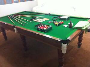 """BILLIARD/SNOOKER TABLE  9'x4'6"""" SLATE TOP Terrigal Gosford Area Preview"""