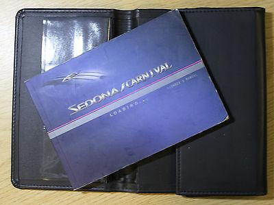 KIA SEDONA / CARNIVAL OWNERS MANUAL HANDBOOK WALLET 2001-2005 PACK 6815