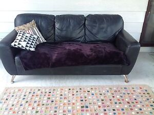 Black 3 seater sofa /couch Cleveland Redland Area Preview