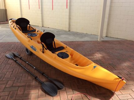 Hobie Mirage Oasis double kayak with pedals and paddles