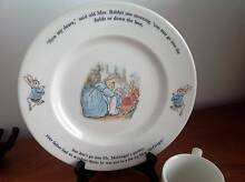 Wedgwood Peter Rabbit Dinner Plate and Cup - UNUSED St Helens Park Campbelltown Area Preview