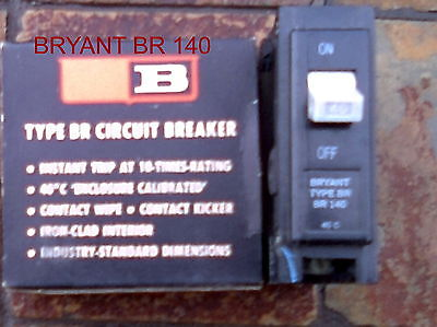 Bryant Br-140 Circuit Breaker 1 Pole 40 Amp 120240 Vac Br140