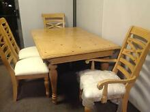 Luxury 7 Piece Solid Maple Wood Dining Table & Chairs RRP 5000 Hornsby Hornsby Area Preview
