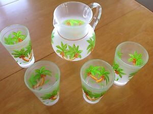 Patio pitcher with 4 large glasses