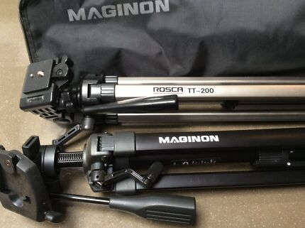 Two Tripods for sale in mint condition. Medion and Rosca TT -200