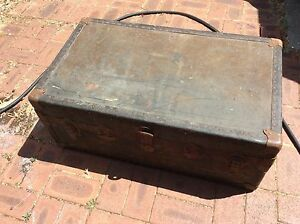 Rustic Mid century vintage steampunk travellers trunk chest Doubleview Stirling Area Preview