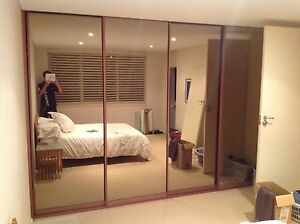 Sliding wardrobe alloy mirror doors Newport Pittwater Area Preview