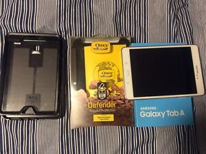 """8"""" Samsung Tab A 16 gb with otterbox case 10/10 comdition"""
