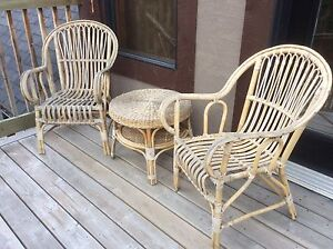 Deck wicker  table & chairs
