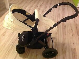 Vulu stroller  black/ beige  and bassinet Wandi Kwinana Area Preview