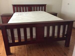 Queen Size bed head with 2 x bed side tables - NEAR NEW Willoughby Willoughby Area Preview