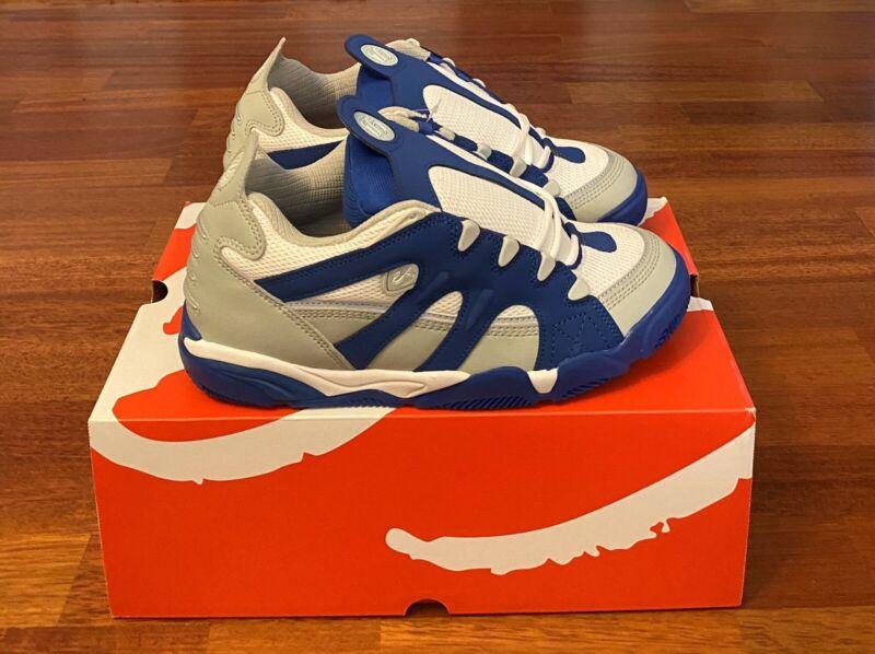 'eS SCHEME Skateboarding Shoes Size 9.5 Grey/Royal Blue/White