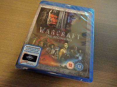 Warcraft 3D  3D   2D Blu Ray  2 Discs  Region Free   Brand New Sealed