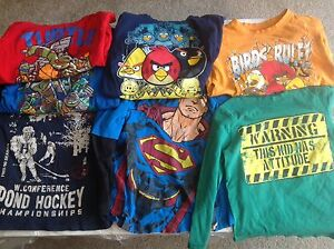 7 shirts size 4 (good condition)(angry bird , superman etc)
