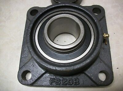 Square Bearing Flange Mount Fs208 3-78 Spacing W Hc208-24 Bearing With Sleeve