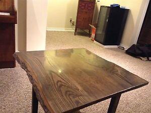Handmade oak live edge table