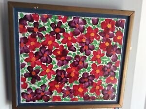 BEAUTIFUL FRANK CARSON OIL PAINTING FLOWER BED