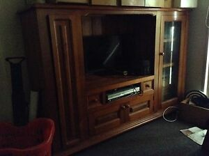 TV/Entertainment Unit - timber Airds Campbelltown Area Preview