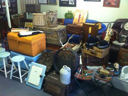 Collectables vintage trunks meat safe ladders suitcases tools