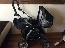 Emmaljunga pram - unique blue and silver fabric - hardly used Narellan Vale Camden Area Preview