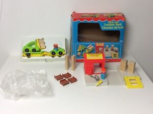 Fisher Price vintage Little People Lift and Load Lumber Yard