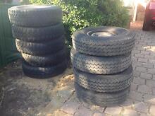 Toyota Land Cruiser 4x4 split rims with tyres Talbingo Tumut Area Preview