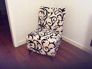Black and white patterned fabric chair Kedron Brisbane North East Preview