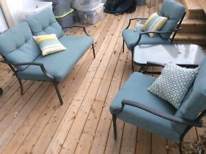 Patio set Sofa, 2 chairs and table
