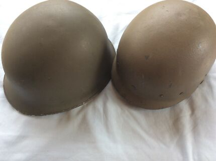 1950s FRENCH ARMY COMBAT HELMET AND LINER. COMPLETE NICE