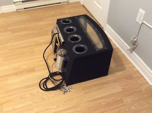 "Woof Woof  2x  10"" subs, amp and lighted cap 150w"