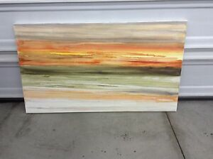Local Original Artist Water Color On Canvas Painting