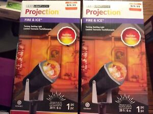 NEW Red Swirling Christmas projection bulbs $15.00 each