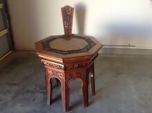 Octagonal carved table and chair Cooranbong Lake Macquarie Area Preview