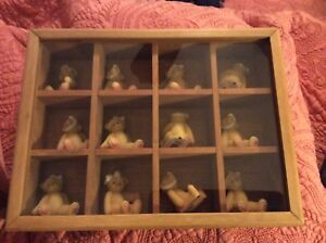 Monthly Cherished Teddies with Custom Wall Mountable Cabinet