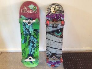 Two  New Skateboards Together