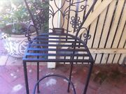 Wrought iron high seat chair (Artist signed and dated) Ellenbrook Swan Area Preview