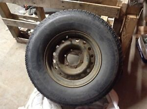Winter tire and rims. Used on Toyota Tacoma.