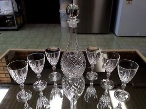 Bohemia crystal decanter & 6 wine glasses Ottoway Port Adelaide Area Preview