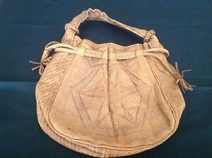 Small hand crafted soft leather bag Kings Beach Caloundra Area Preview