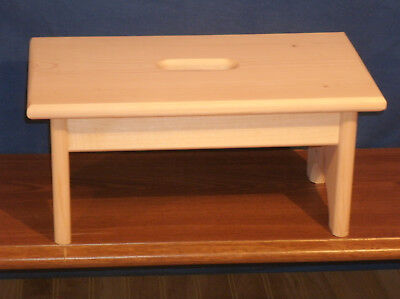 Wooden Step Stool - wooden step stool- 7 1/2