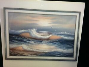 "Oil painting in canvas 28"" X 40"" asking $60"