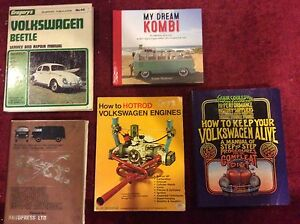 Assorted volkswagen books including VW  Beetle and Kombi and mags Singleton Rockingham Area Preview