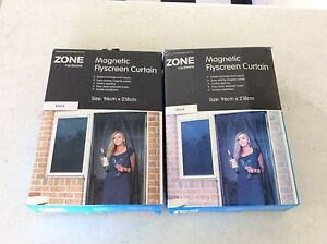 Magnetic Fly screen curtain (Zone Hardware) x 2 Narraweena Manly Area Preview