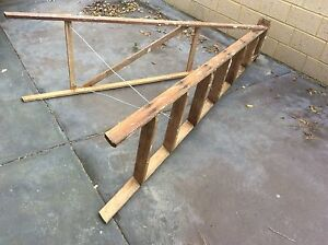 Mid century vintage wooden A frame ladder 201cm high Doubleview Stirling Area Preview