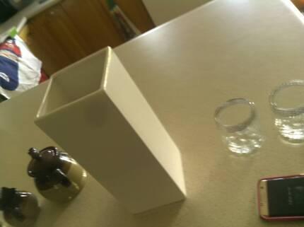 Kitchen glasses and salt shaker