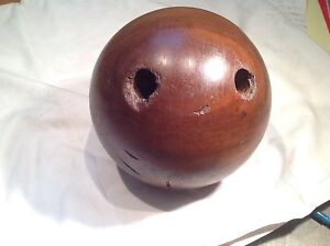 Iron wood bowling ball