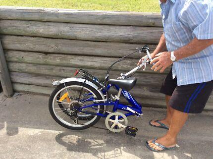 Fold up push bike
