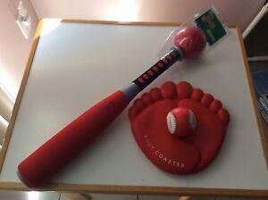 Bâton de baseball +balle + marbre pour 3 ans + NEUF...